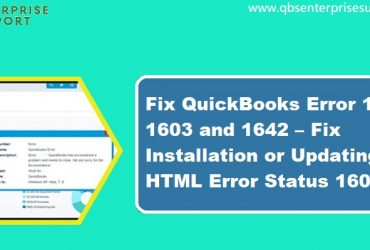 How to Resolve QuickBooks Error 1601, 1603 and 1642