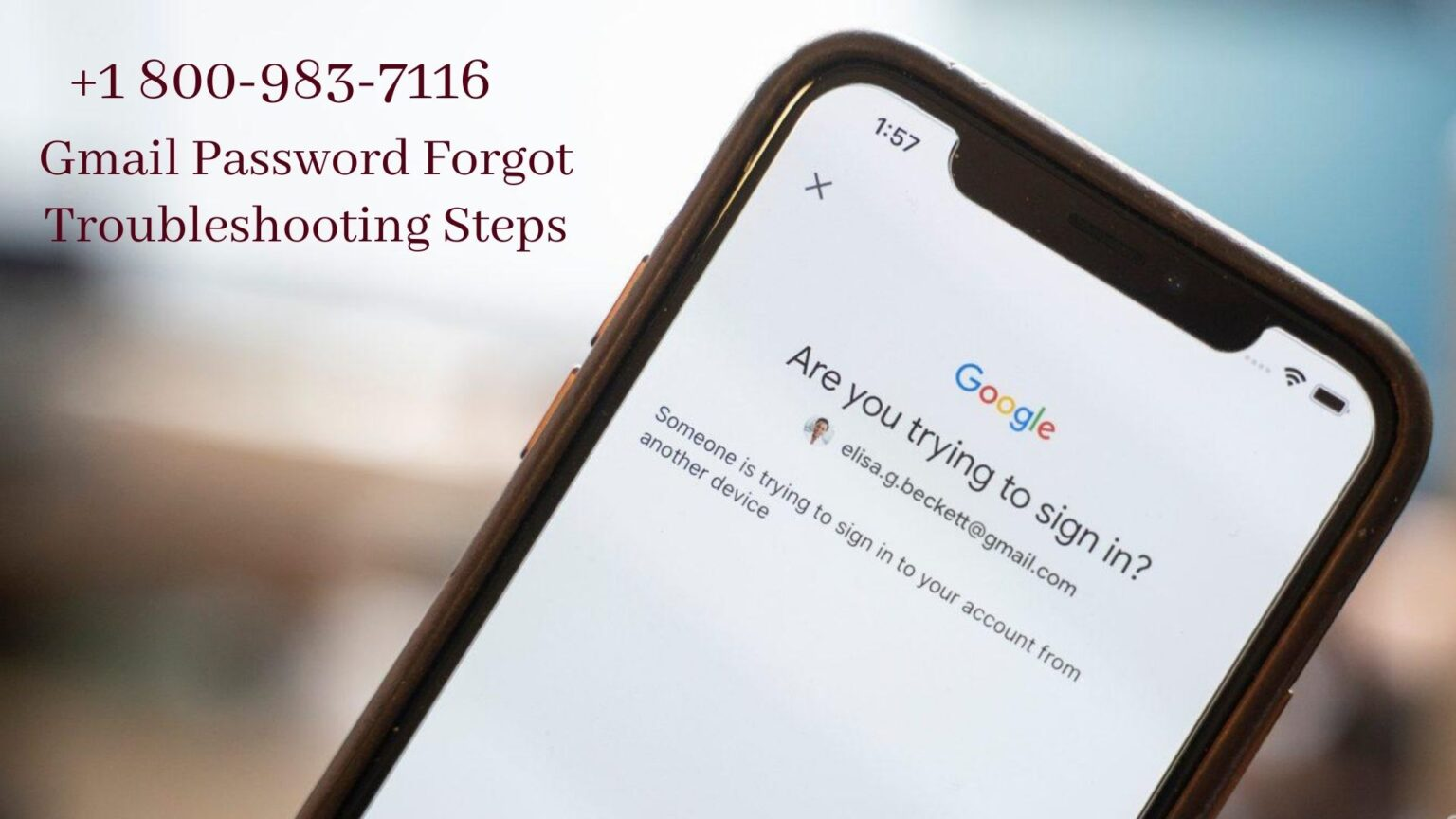How to recover if I forgot my gmail password? 1 800-983-7116