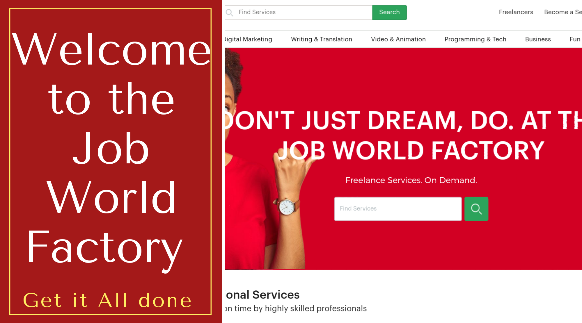 Job World Factory – Freelance Division Launches Multi Million Pound Campaign