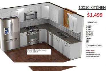 Wood shaker kitchen cabinets 10 x 10 kitchen $1,499