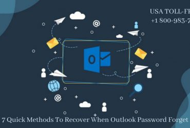 Unable to Restore Outlook Password Forget | 18009837116