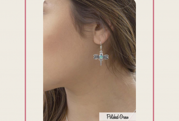 Add to cart these pretty silver dragonfly earrings