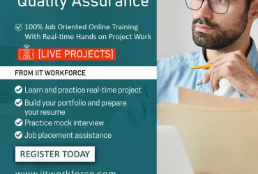 Start a Dynamic Career with the IITworkforce Quality Assurance Certification
