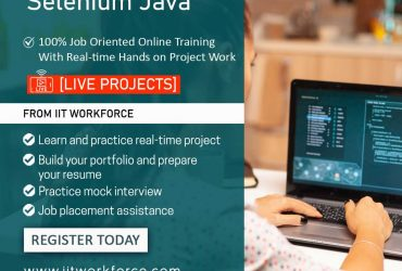 Enhance your skills by learning selenium with java from IIT workforce