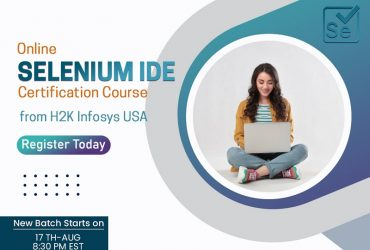 Selenium IDE Certification Course in H2K Infosys USA