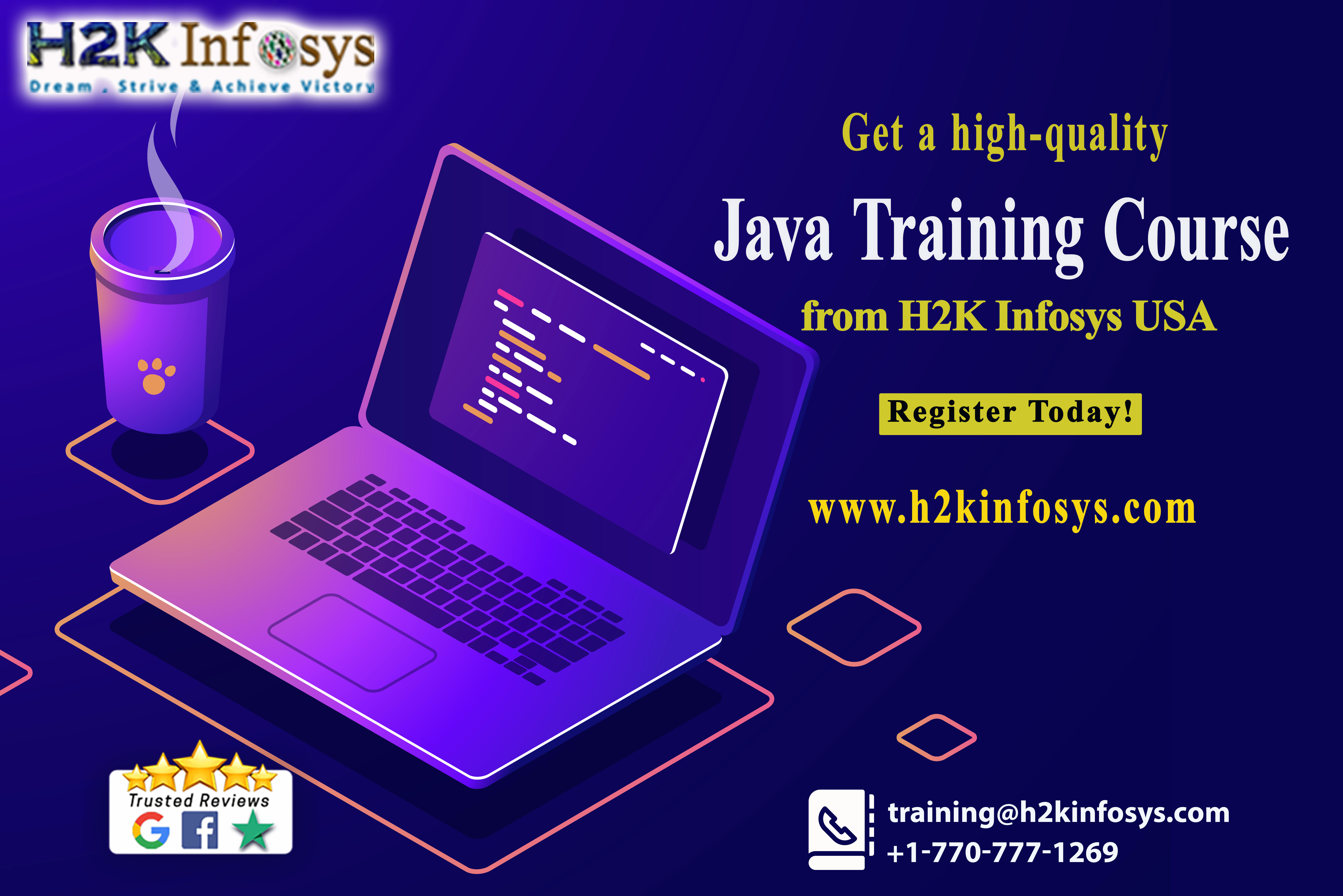 Get a high-quality Java Training Course from H2K Infosys USA