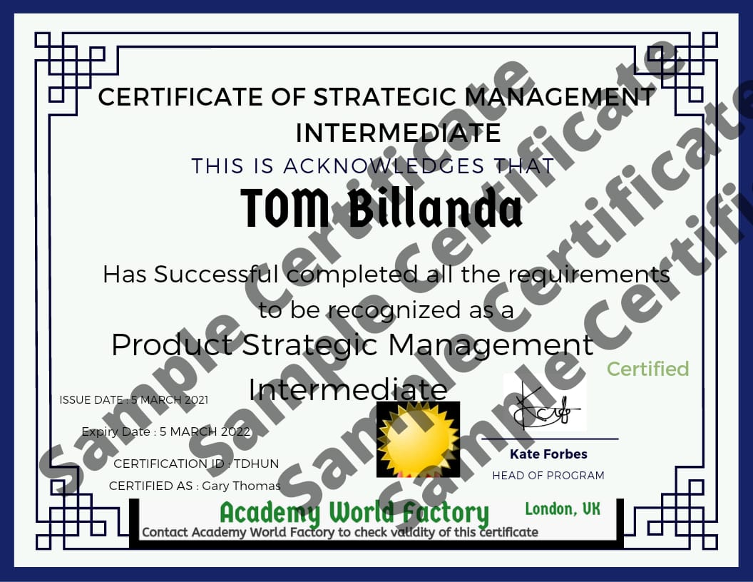 PROJECT STRATEGIES (short course) 2 days online certificate