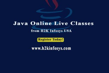 Java Online Live Classes Training At H2K Infosys USA
