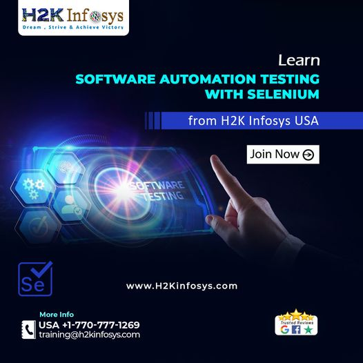 Advance your career in Selenium at H2K Infosys USA